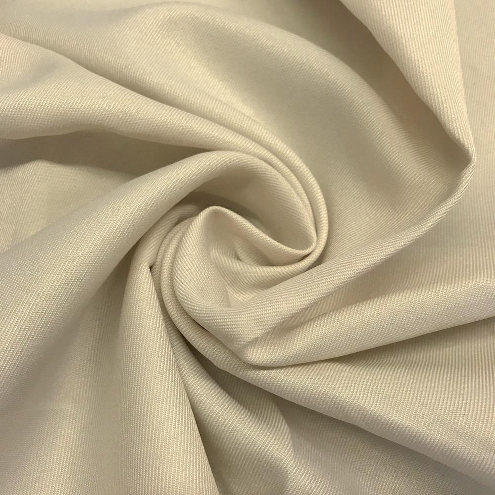 "Twill Woven Fabric Drapery Soft 60"" Inches By the Yard (White)"
