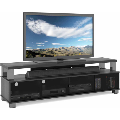 Sonax Bromley Ravenwood Black Two Tier TV Bench for TVs up to 80""