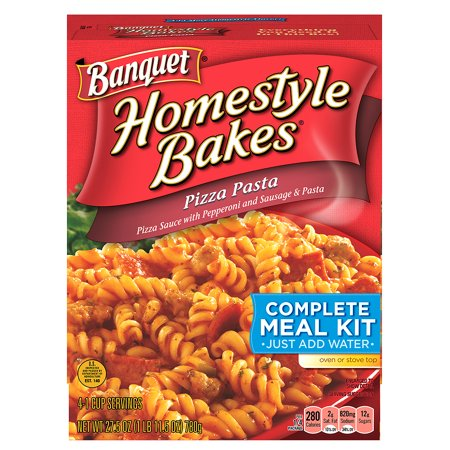 Halloween Pasta Bake ((2 Pack) Banquet Homestyle Bakes Pizza Pasta Meal Kit, 27.5)