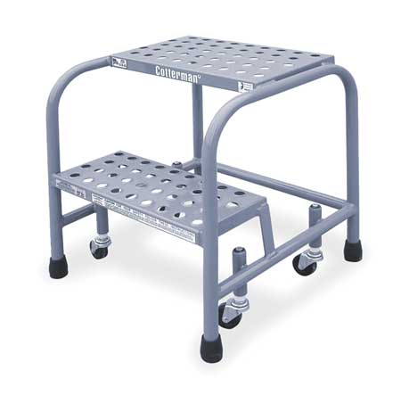 Cotterman Perforated Rolling Ladder, Gray 1002N1818A6E10B3C1P1