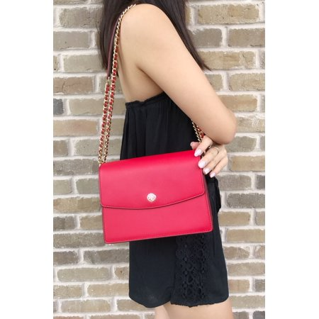 d9289919c Tory Burch - Tory Burch Parker Convertible Shoulder Bag Cherry Apple Red  Navy - Walmart.com