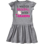 I Watch Baseball with My Grandpa Toddler Dress
