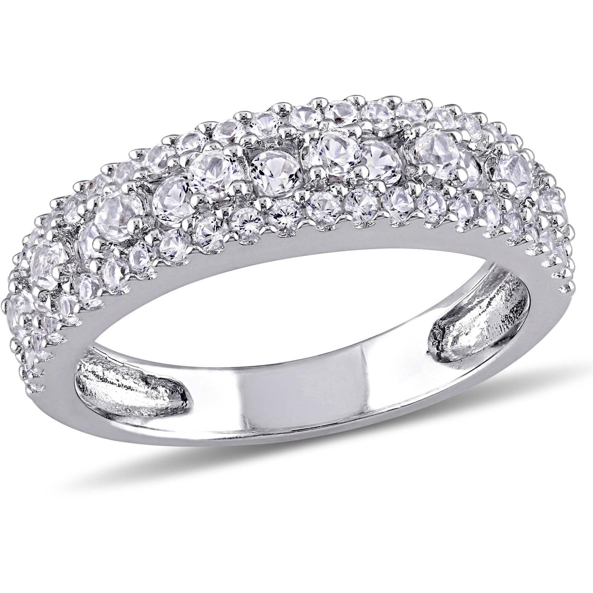 Miabella 1 1 7 Carat T G W Created White Sapphire Sterling Silver