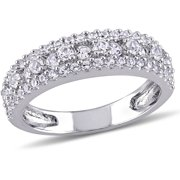 miabella 1 17 carat tgw created white sapphire sterling silver anniversary ring - 25th Wedding Anniversary Rings