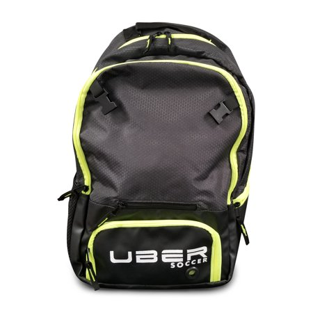 Uber Soccer Select Backpack with Ball Net - Black/Green