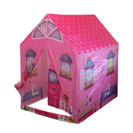 POCO DIVO Cottage Playhouse Girl City House Kids Secret Garden Pink Play Tent