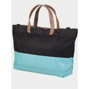 Peerless LAT001-Black-Aqua Vineyard Tote Bag - Clearance, Black And Aqua