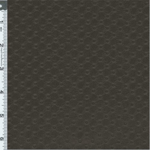 Dark Brown Diamond Vinyl Upholstery Fabric, Fabric By the Yard