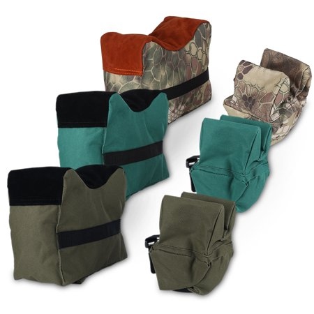 Knifun Shooting Sandbag, Shooting Bench Sandbag,Unfilled Front & Rear Shooters Gun Rest Sand Bags Shooting Bench Steady