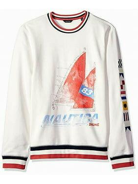 Nautica Mens Graphic Stripe Sweatshirt