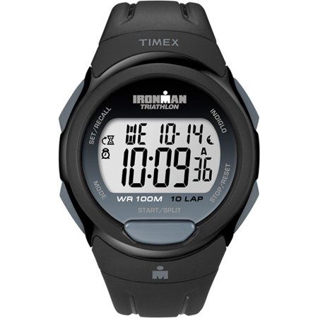 Timex Men's Ironman Essential 10 Full-Size Watch, Black Resin Strap