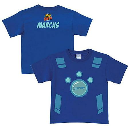 Personalized Creature Power Suit Toddler Boy Blue T-Shirt