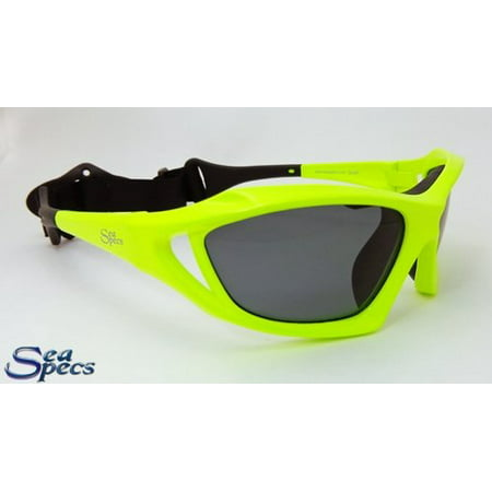 seaspecs extreme sports sunglasses stealth neon green