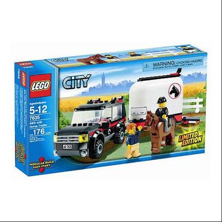 LEGO City 4WD With Horse Trailer Exclusive Set #7635 ()