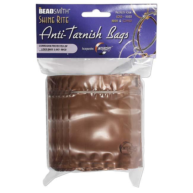 Shine Rite Anti-Tarnish Self Sealing Plastic Bags 2.5 x 3 Inches (50 Bags)