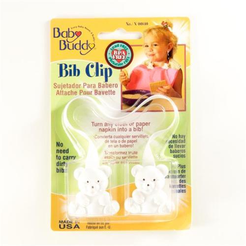 Baby Buddy Bib Clip White - Case of 18