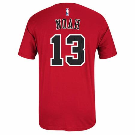 Joakim Noah Chicago Bulls NBA Adidas Men's Red Name & Number Player Jersey T-Shirt