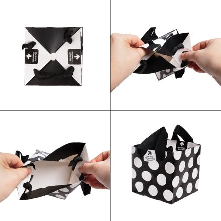 Built 5 Pack Easy Origami Paper Gift Bags Bulk Pinwheel Holiday With Handles For Valentines Day Xmas Gifts Men Women