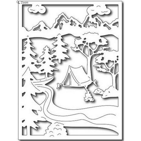 Frantic Stamper - Dies - Summer Camping In The Wildwood (Summer Camp Arts And Crafts)