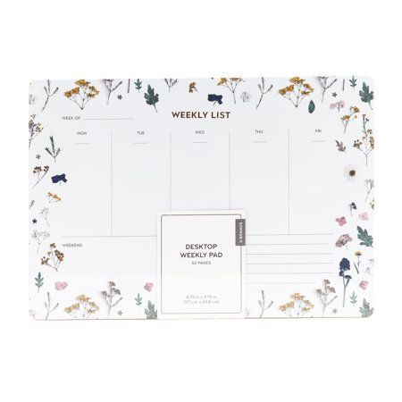 U Brands Weekly Planning Notepad, Floral