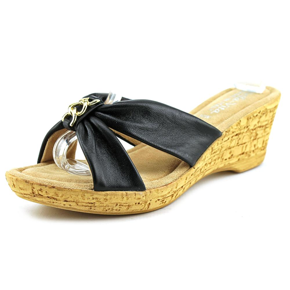Bella Vita Aquila Open Toe Leather Wedge Sandal by Bella Vita