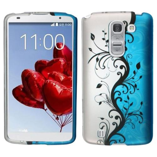 Insten Blue Vines Fashion Cute Design Pattern Hard Snap-On Protective Case Skin For LG G Pro 2
