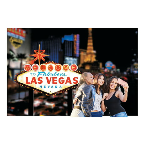 Welcome To Las Vegas Scene Casino Backdrop Banner Decoration Photo Booth (3pcs) - Las Vegas Decorations Ideas