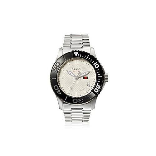 Gucci 126XL White Dial Stainless Steel Quartz Men's Watch...