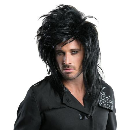 Rockstar Wig Hair Band 80s Black R39348/137](80s Rockstar Wig)