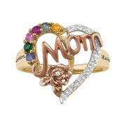 Personalized Family Jewelry Blossom Birthstone Mother's Ring available in Sterling Silver, 10kt Gold over Silver, 10kt or 14k Yellow or White Gold