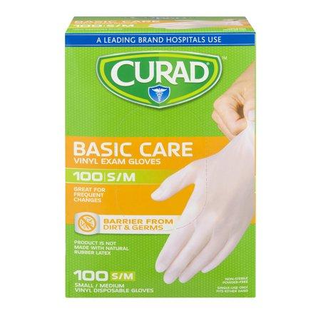Curad S M Basic Care Vinyl Exam Gloves  100 0 Ct