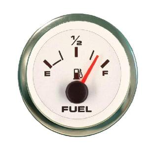 SIERRA Premier Pro White Domed Oil Pressure Gauge 0-80psi 62542P