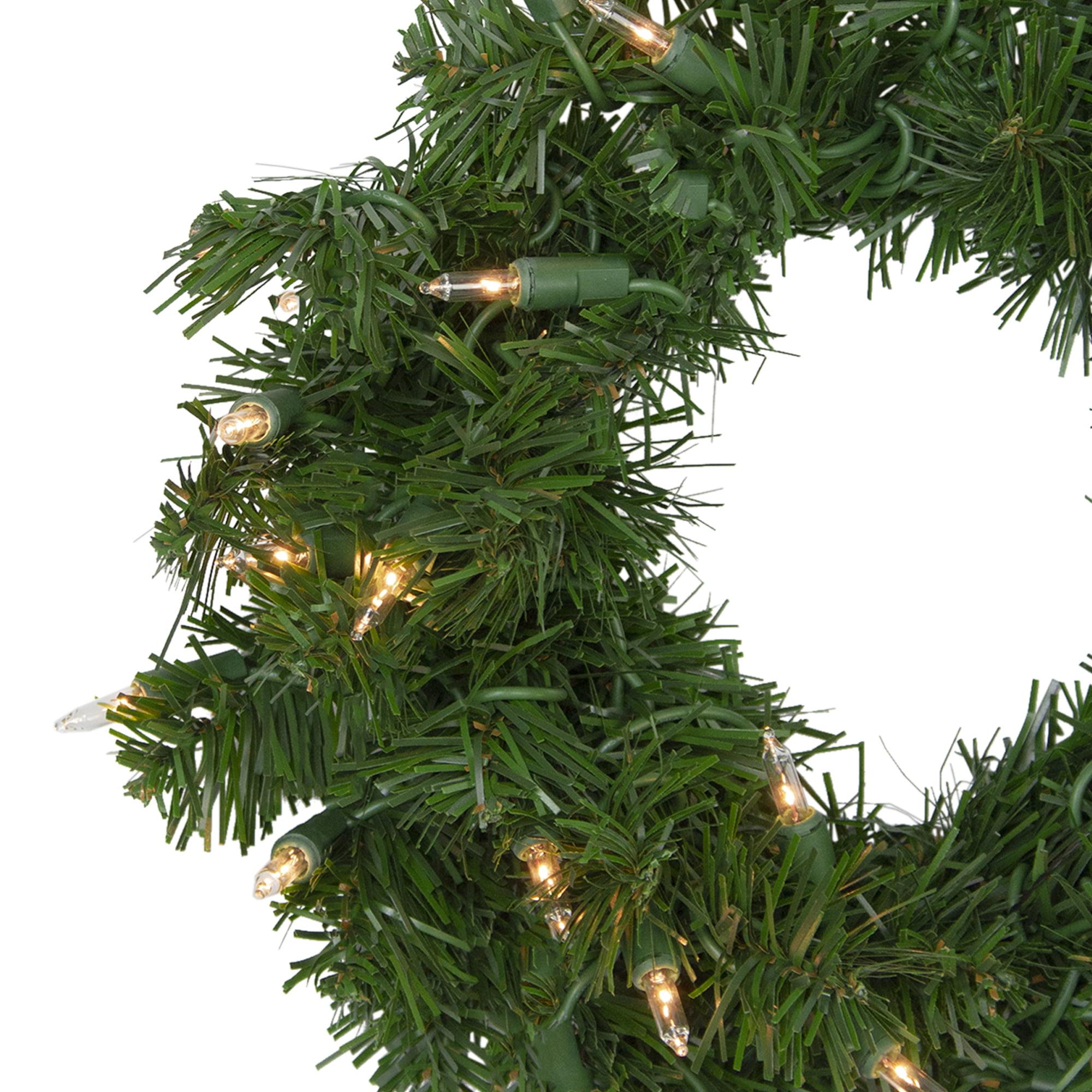 Northlight 12 Deluxe Windsor Pine Artificial Christmas Wreath Clear Lights Walmart Com Walmart Com