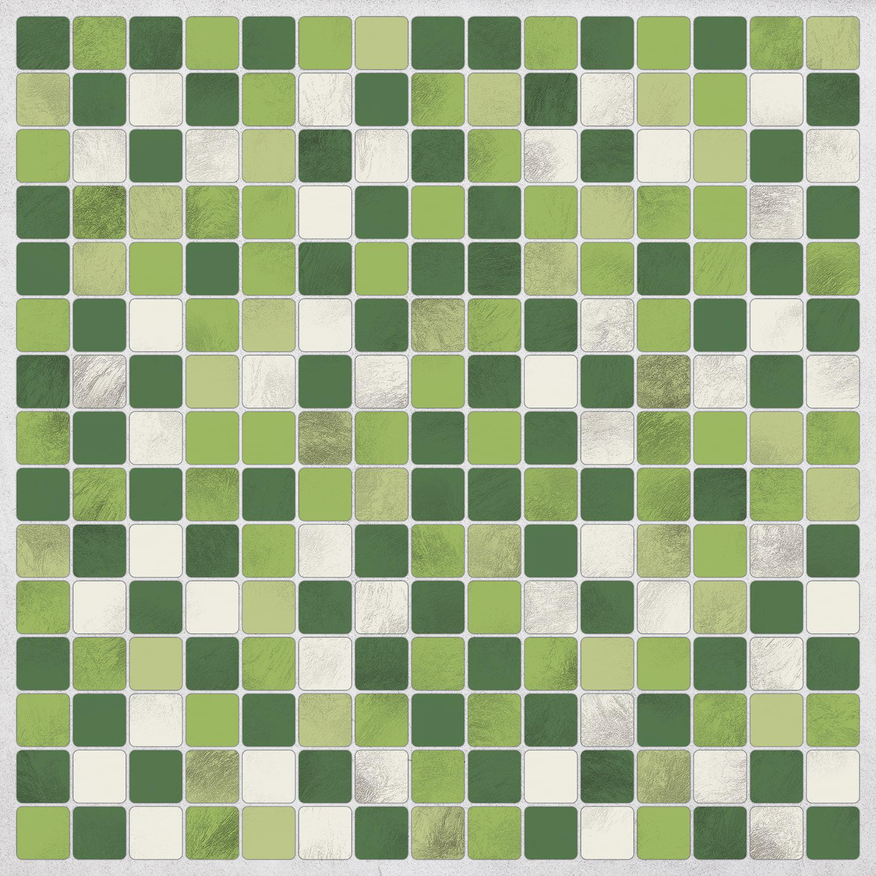 home decor line green peel stick tiles walmart com