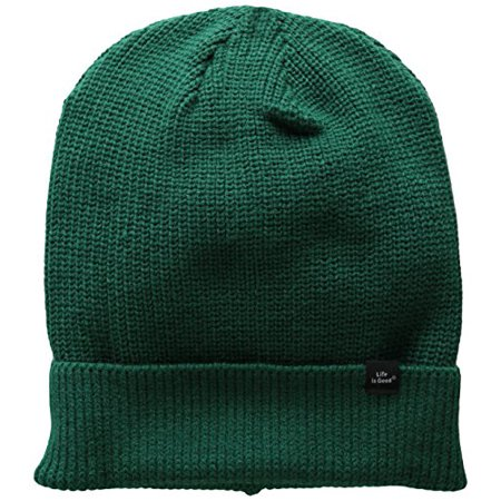 Life is good Slouchy Beanie Cap (Hunter Green), One Size