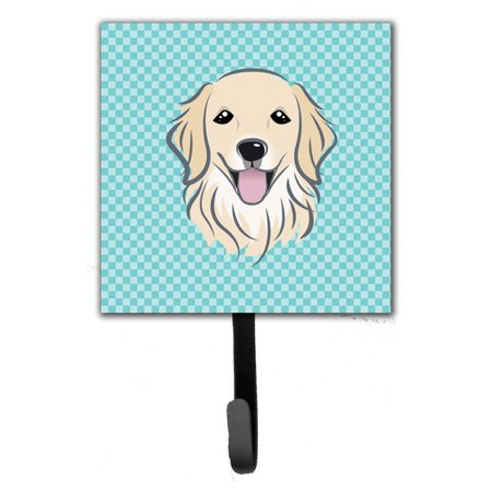 - Caroline's Treasures Checkerboard Golden Retriever Leash Holder and Wall Hook