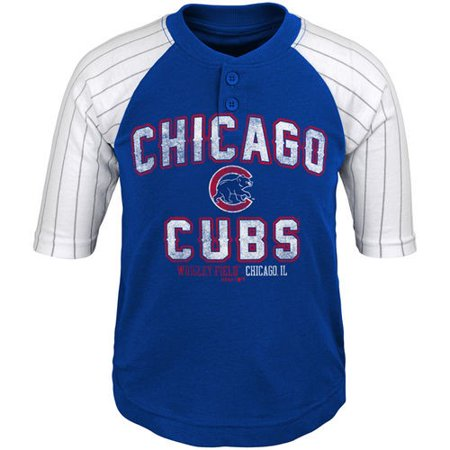 online store 122b1 7aa52 Chicago Cubs Toddler The Original 3/4-Sleeve T-Shirt - Royal