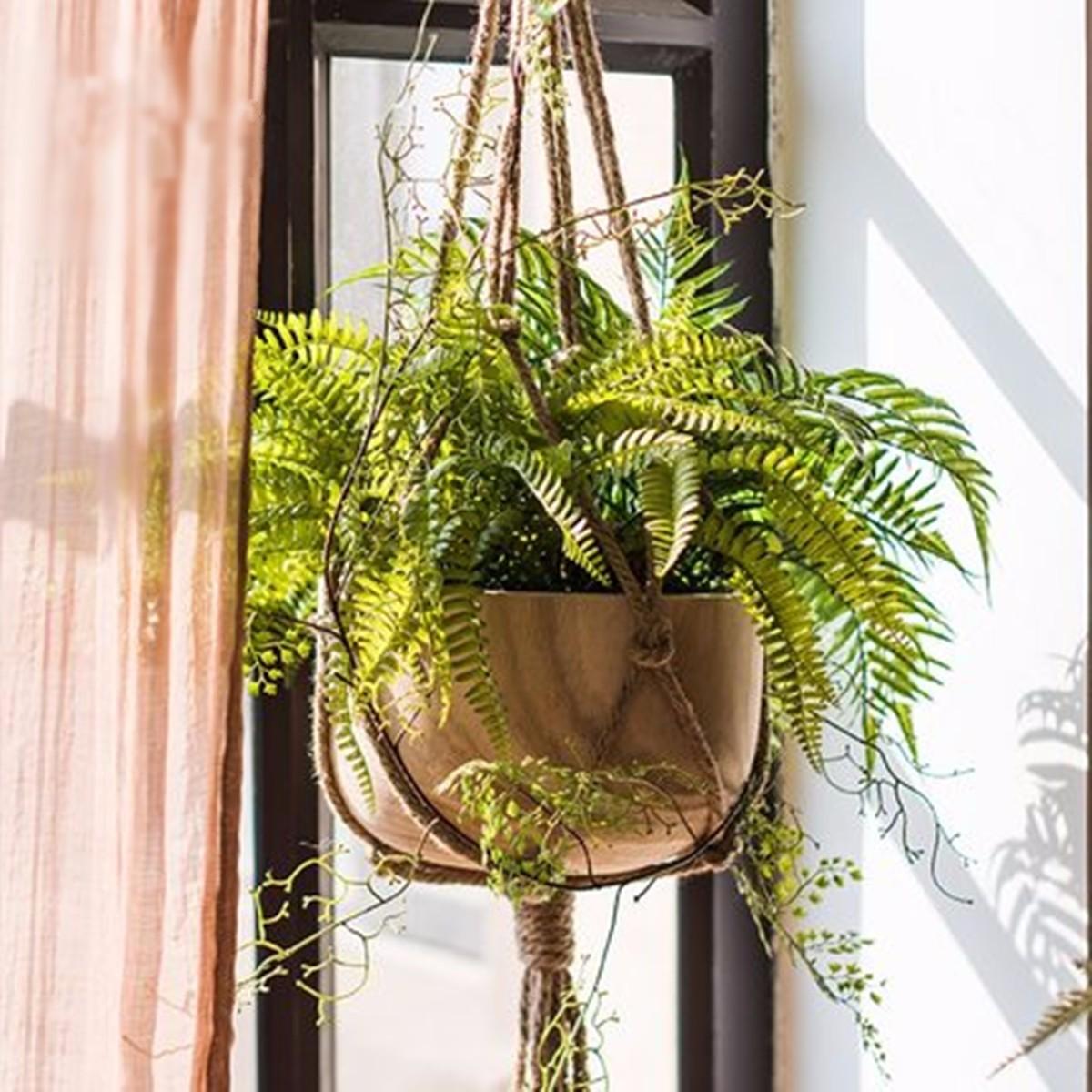 "41"" Macrame Braided Plant Hanger Hanging Planter Basket Jute Rope Pot Holder Home Garden"