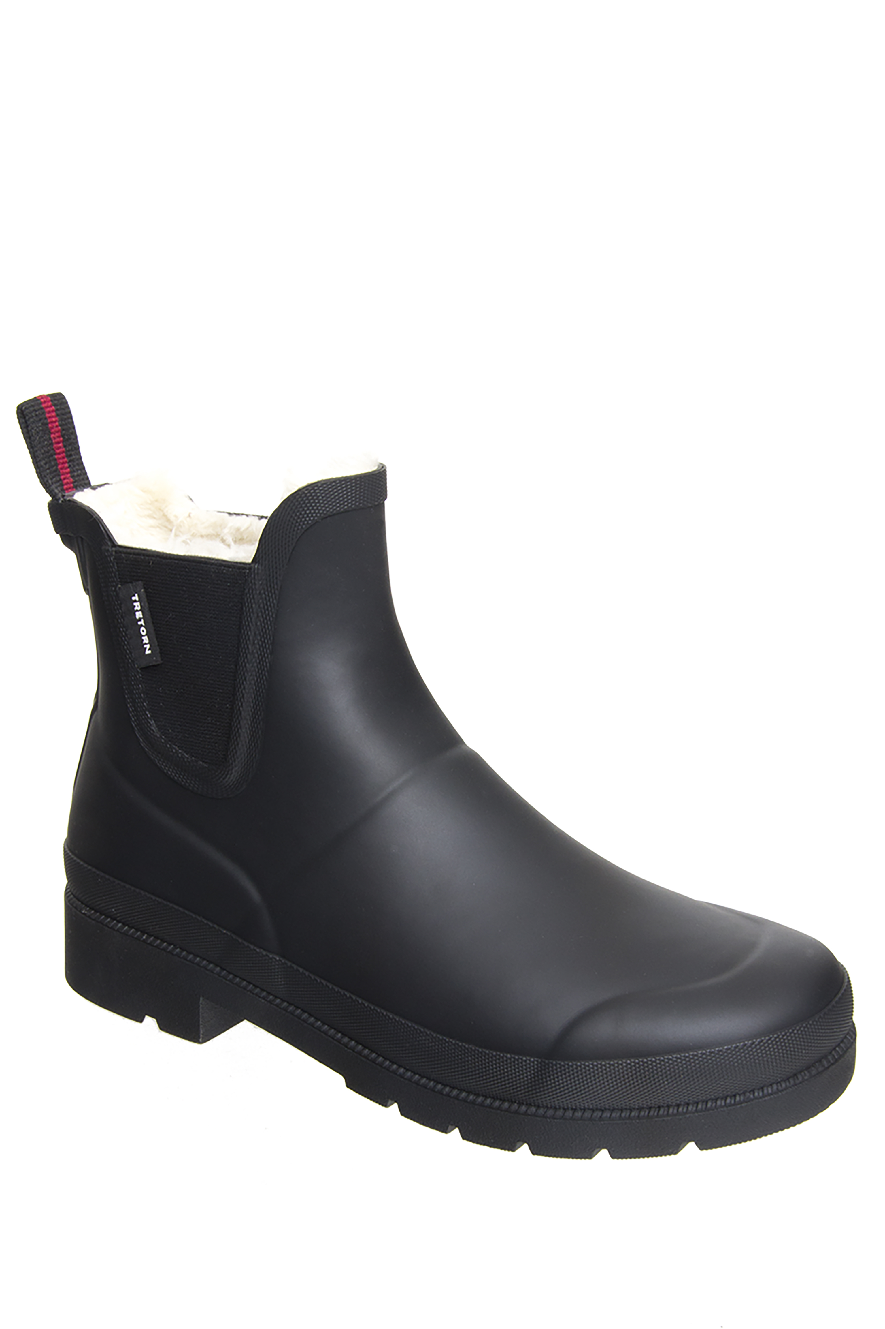 Tretorn Linawnt Low Heel Rain Boot Black by Tretorn