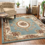 "Well Woven Timeless Le Petit Palais Traditional Medallion Floral Red 9'3"" x 12'6"" Area Rug"