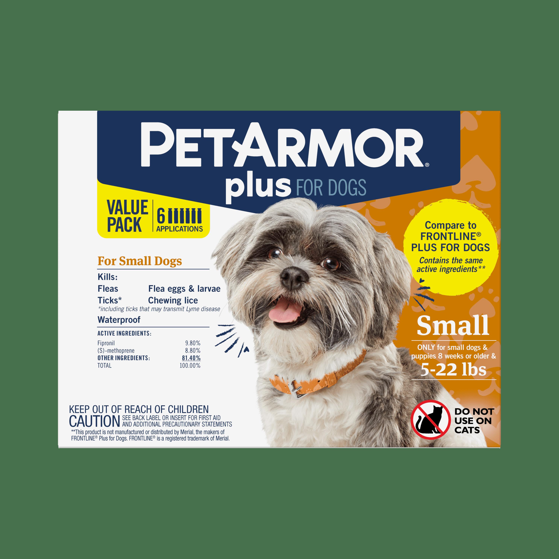 Petarmor Plus Flea Tick Prevention For Small Dogs 4 22 Lbs 3 Treatments Walmart Com Walmart Com