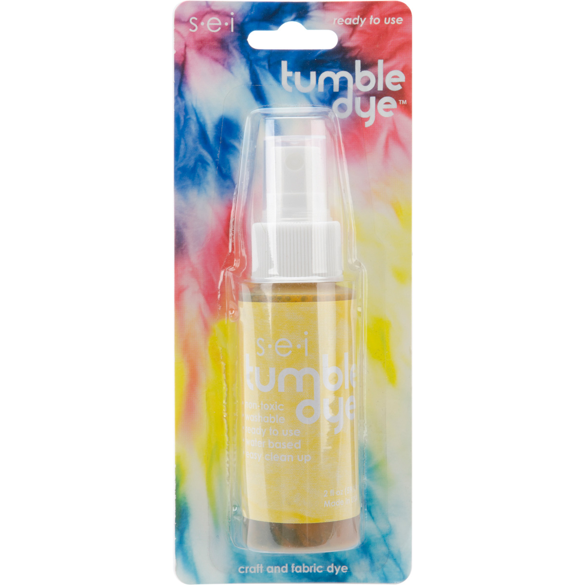 Tumble Dye Craft And Fabric Spray 2 Ounces-Charcoal