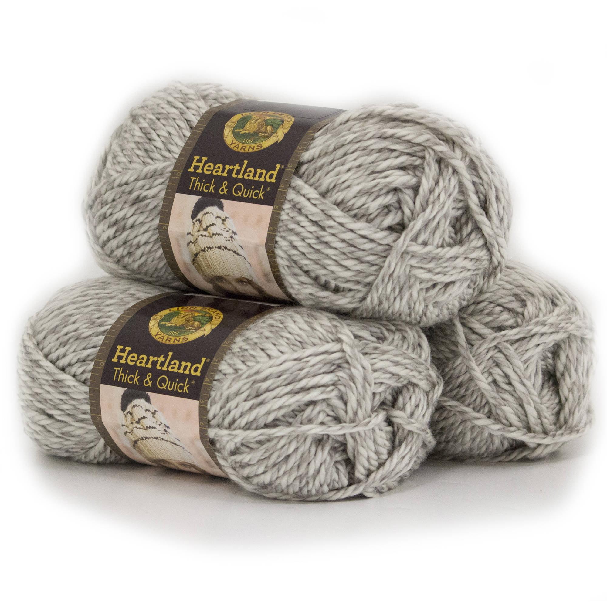 Lion Brand Yarn Heartland Thick and Quick Classic Yarn, 3pk