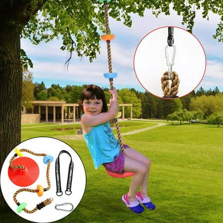 12'' Climbing Rope with Platform & Disc Tree Swing Seat Set Fun For Kids Outdoor thumbnail