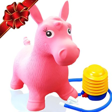 ToysOpoly Inflatable Horse Bouncer Cutest Ride on Bouncy Animal Hopper for Kids with Eco-Friendly Rubber... by ToysOpoly