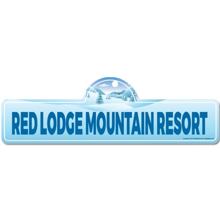 - Red Lodge Mountain Resort Street Sign | Indoor/Outdoor | Skiing, Skier, Snowboarder, Décor for Ski Lodge, Cabin, Mountian House | SignMission personalized gift