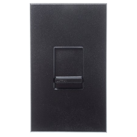 Lutron NTF-10-277-BL Nova T 277V 8A Fluorescent 3-Wire Hi-Lume LED Single Pole Slide-to-Off Dimmer Black