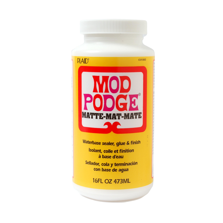 Mod   Podge Matte, Glue, Sealer and Finish for Decoupage by Plaid, 16 oz.