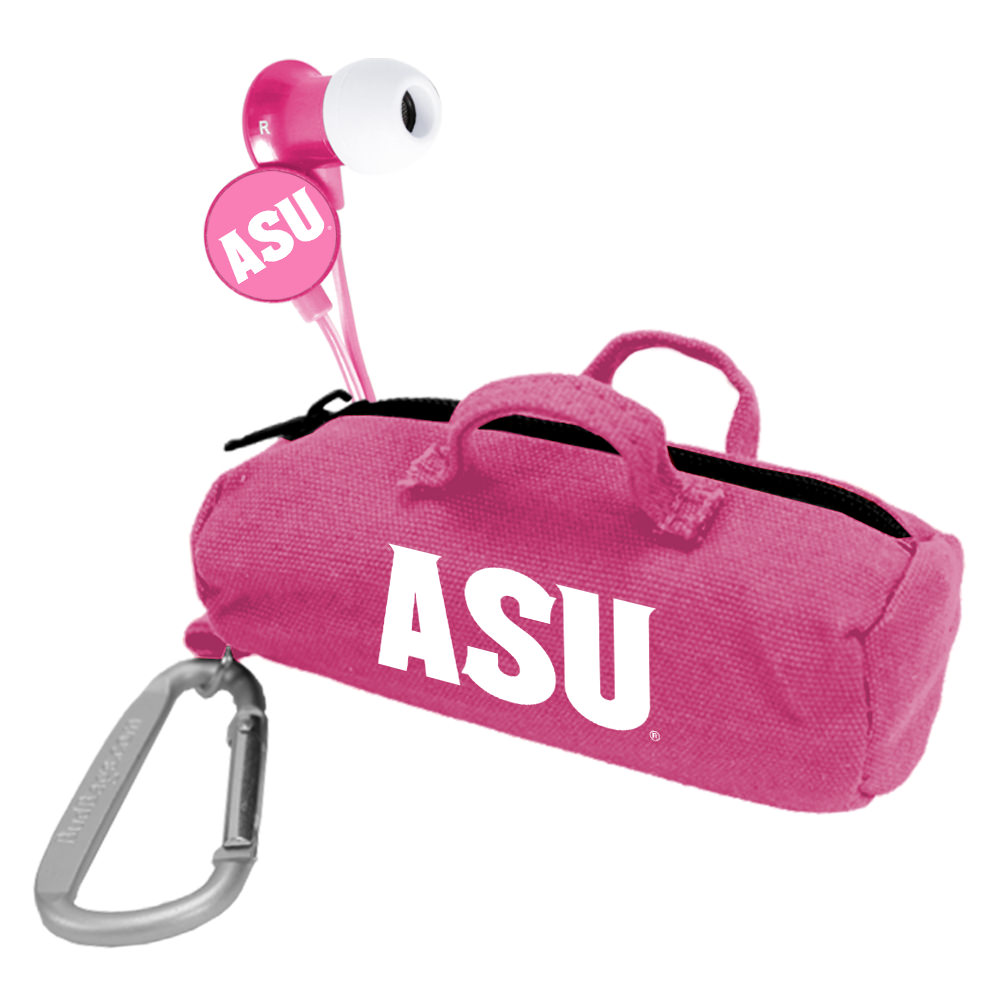 Arizona State Sun Devils Pink Scorch Earbuds with BudBag