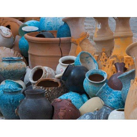 Turkish Pottery (Pottery on the Street in Cappadoccia, Turkey Print Wall Art By Darrell Gulin)